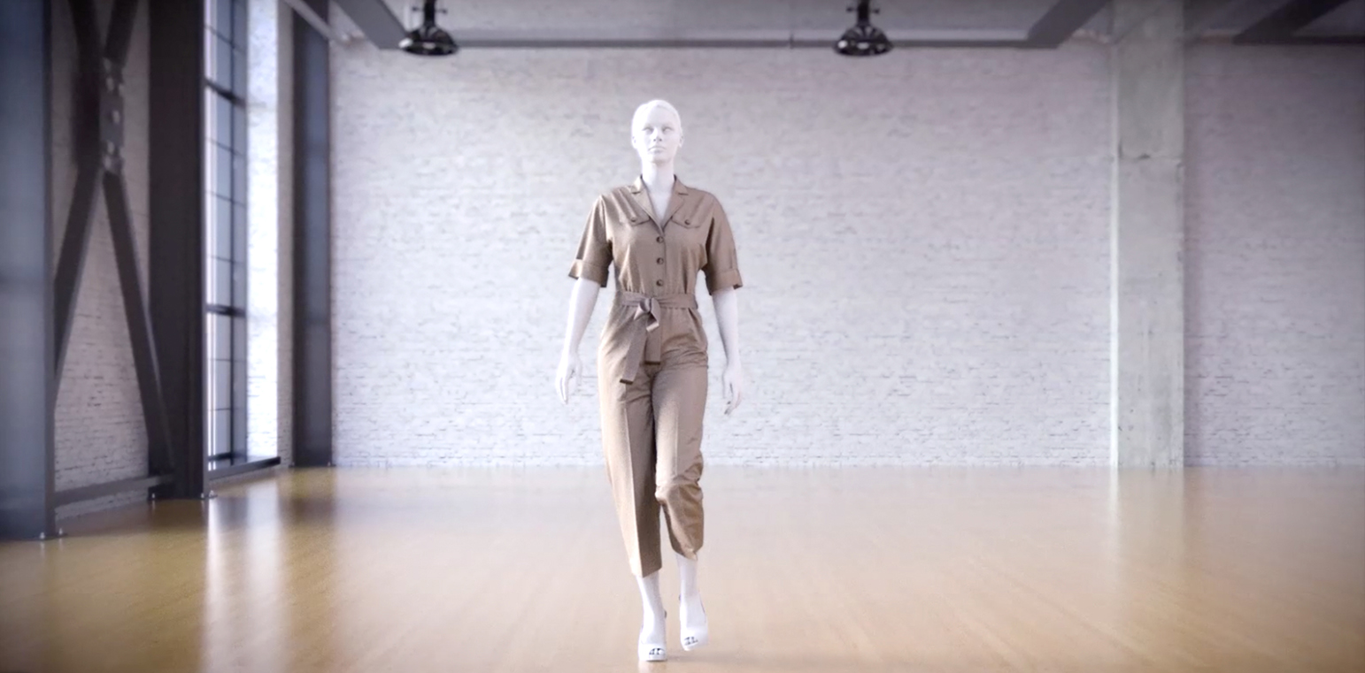 From 3D model to virtual catwalk